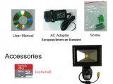 Wasserdichte LED-Flut-Licht WiFi Kamera P2p DVR für Beleuchtung und inländisches Wertpapier