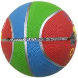 Jouet à trois couleurs caoutchouc Basket-ball