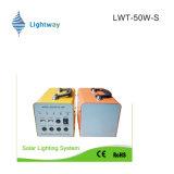 système de l'alimentation 50W solaire pour l'usage à la maison (batterie au lithium/batterie d'acide de plomb)