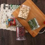 glas-Sammelbehälter der Farben-700ml zwei Glasmit gelber/grüner Kappe