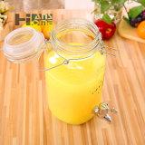 tarro de cristal del almacenaje del zumo/del vino de fruta 4000ml con la tapa