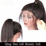 전 아기 머리로 뽑아지는 흑인 여성을%s 이탈리아 Yaki 똑바른 레이스 정면 사람의 모발 가발