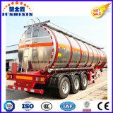 3 del árbol 45cbm de aluminio de la aleación de la gasolina del combustible de la gasolina de petróleo del buque acoplado diesel semi con el silo 5
