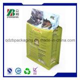 Flache Unterseiten-wiederversiegelbarer Beutel-Beutel für Haustier-Behandlung-Verpackung