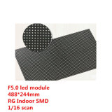 Módulo LED SMD interior F5.0 Rg Es 64x32 píxeles con HUB08, el tamaño es 488X244mm, 1/16 Escaneado de voltaje constante