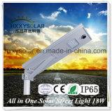 2017 bester Preis alle in einem integrierten LED-Solarstraßenlaterne18W