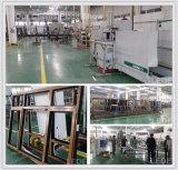 Aluminiumfenster-und Tür-Maschinen-Doppelt-Kopf-Eckquetschverbindenmaschine mit dem Positions-Punkt, der für Qualitätsecke justierbar ist, erhalten