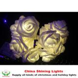 Il fiore Rosa LED illumina la decorazione del giardino di festa della festa nuziale
