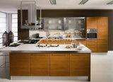 Hölzerner Furnier-Blattküche-Schrank und Küche-Möbel (YB-127)