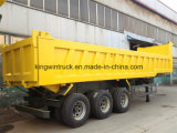 中国3の車軸30tonsdumpトラックのトレーラー