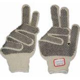 Natuurlijke T/C die Gebreide Handschoen met de PUNT van pvc werkt (jmc-320E)