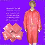 Blouse de laboratoire jetables en polyéthylène, jetables Poly blouse de laboratoire