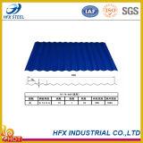 Strato ondulato galvanizzato preverniciato del tetto per costruzione