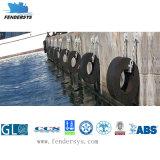 La cubierta del guardabarros Marina cilíndricas para muelles