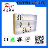 ABS 재질 나무 프레임 광고 LED 라이트 박스