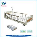 Lit d'hôpital électrique à cinq fonctions avec rail latéral en alliage d'aluminium