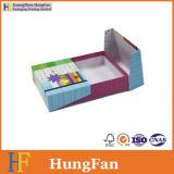 Caixa de papel luxuosa de embalagem do presente do cartão do estilo aberto da porta