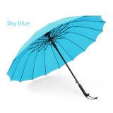 Parapluie de golf d'affaires avec le parapluie durable intense de parasol de traitement droit