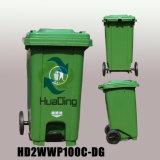 scomparto di rifiuti di plastica del pedale 120L per esterno