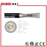 Tipo trenzado al aire libre cable de fibra óptica de las memorias GYTA de la fábrica 144 para la red
