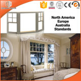 Festes Holz-außenaluminiumlegierung-Puder-Beschichtung-Technologie-Bucht u. Bogen-Fenster, populäres Spezialgebiets-Fenster mit Gitter