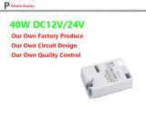 세륨 TUV Hight Pfc 24V 40W LED 운전사, 24V LED 전력 공급, 일정한 전압 24V 의 플라스틱 전력 공급