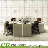 Estação de trabalho moderna do escritório da mobília dos CF para a pessoa 3