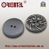 Poliestere Resin Button con Flower Pattern (H-1749SJ)