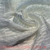 Tela de linho de nylon viscosa do jacquard de Tencel para a saia da roupa do vestido
