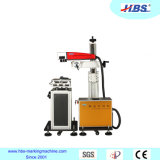 20W Online Flying Fiber Laser Marking Machine with 360 Degree Rotate Head