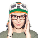 재미있은 안내하는 Handmade 뜨개질을 하는 뜨개질을 한 겨울 모자