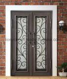 Beste verkaufende bearbeitetes Eisen-Doppelt-Haustüren für Haus