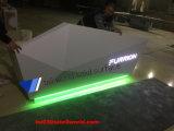 Коммерчески белый изогнутый стол приема персоны офисной мебели 3