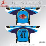 Corte y hockey sobre hielo de costura Jersey del diseño del OEM de Healong