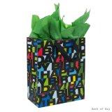 Bolso del regalo de Brithday, bolsos del regalo, bolso de papel del regalo, bolso de papel de Kraft, bolso de papel