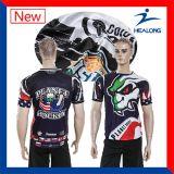 Le prix bon marché de Healong Chine vêtx le bon T-shirt d'années de l'adolescence de sublimation de modèle