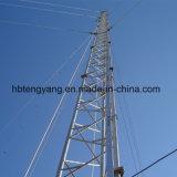 Drei Leged Stahlgitter-Telekommunikation Guyed Aufsatz