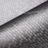 Couro artificial Textured do plutônio do mel, couro do saco, couro decorativo