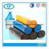 HDPE LDPE LLDPE Aangepaste Afdrukkende Plastic Vuilniszak Drawstring