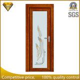 2018 de madera de alta calidad de aleación de aluminio de color de la puerta de cristal de Casement wc