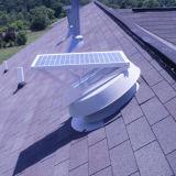 30watt ventilador accionado solar negro del ático con el motor sin cepillo