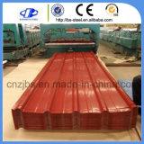 Folha de metal corrugado de zinco Prepainted ferro galvanizado a folha de telha
