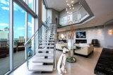현대 스테인리스 손잡이지주 유리제 방책 나무 계단