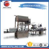 Ligne recouvrante remplissante rotatoire mis en bouteille automatique de machine d'huile de table