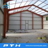 O projeto de construção de estrutura de aço acabados