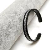 Trajes de moda joyas de plata Brazalete Pulsera de fibra de carbono