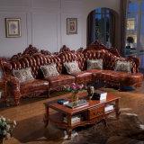 Klassisches ledernes Sofa-Bett für Wohnzimmer-Möbel (803)