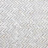 Mosaico blanco del shell 10*30 del agua dulce con boquete