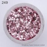 1 vaso/casella 10 ml del chiodo 3D della miscela del chiodo di scintillio della polvere dei Sequins del chiodo di polvere rosso-chiaro dentellare di arte per il polacco 4-27 (NR-45) del gel