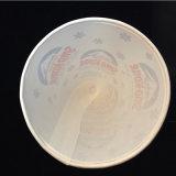 Tazza stampata a gettare materiale di carta del cono con la paglia del cucchiaio